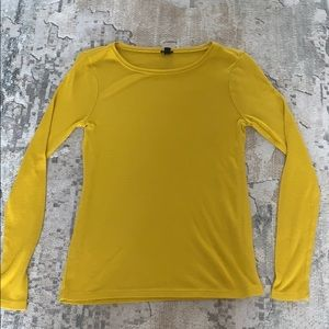 J. Crew Yellow long-sleeved shirt, size S.